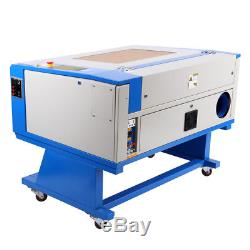 USB 60W CO2 Laser Cutter Engraving Cutting Machine 700x500mm With Rotary Axis