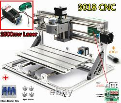 USB Mini 3018 CNC Router Cutter Wood PCB PVC Engraving Machine with 2500mw Laser