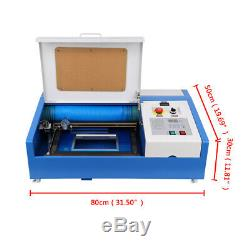 Used 40W USB CO2 Laser Engraving Cutting Machine Engraver Cutter 12x8